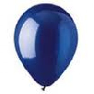 CRYSTAL BLUE LATEX BALLOON